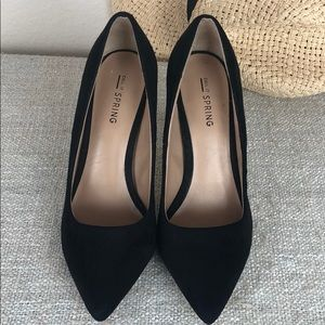 Call it spring Suede Black High Heels